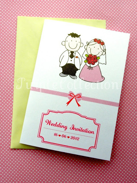 Cartoon Couple Wedding Invitation Card, wedding cartoon invites, wedding invitation card, cute wedding cards, red wedding cards, cartoon card, wedding card, wedding