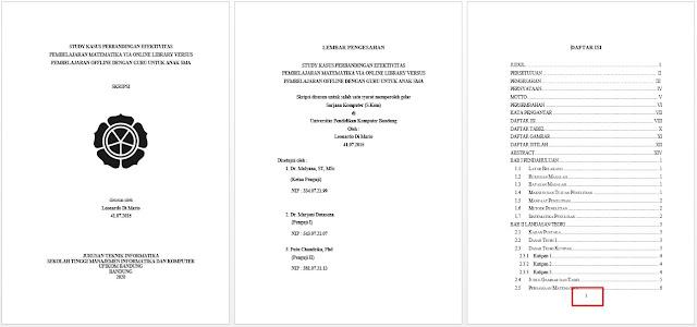 cara membuat halaman di word untuk skripsi - cover