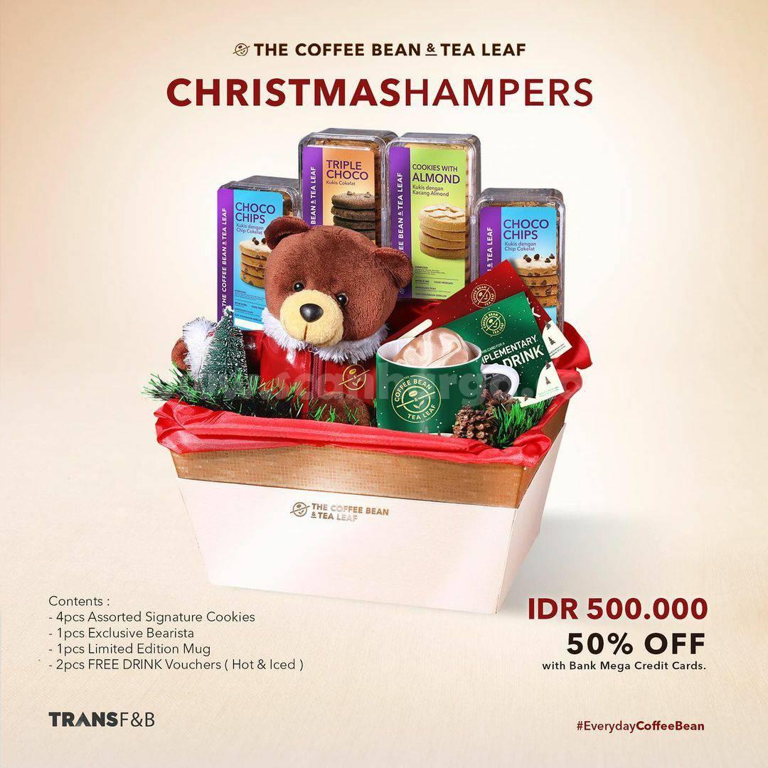 Promo COFFEE BEAN Christmas Hampers ✓Diskon 50% dengan Kartu Kredit Bank Mega