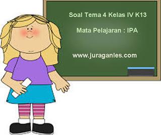 Contoh Soal Tema 4 Kelas 4 SD/MI Kurikulum 2013 Mata Pelajaran IPA