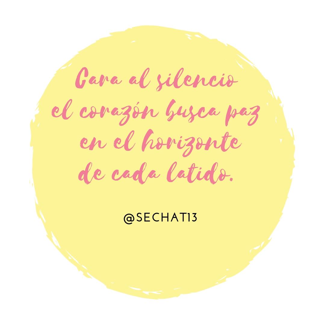 Poema Cara al silencio