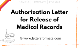 Authorization Letter for Release of Medical Records (Sample)