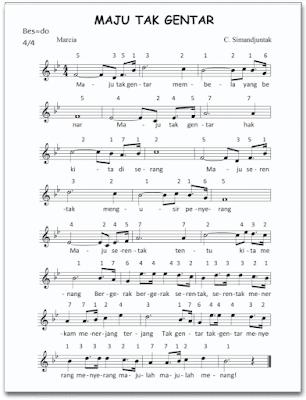 "lirik lagu ""Maju Tak Gentar"" www.simplenews.me"