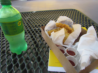 Chicken fingers and soda, click to see all the photos