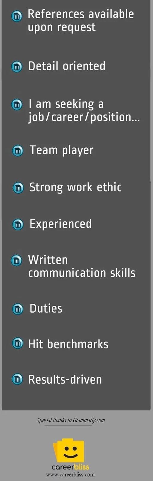 Tips Resume - Perkataan atau Ayat Tidak Sesuai Dalam Menghasilkan Resume