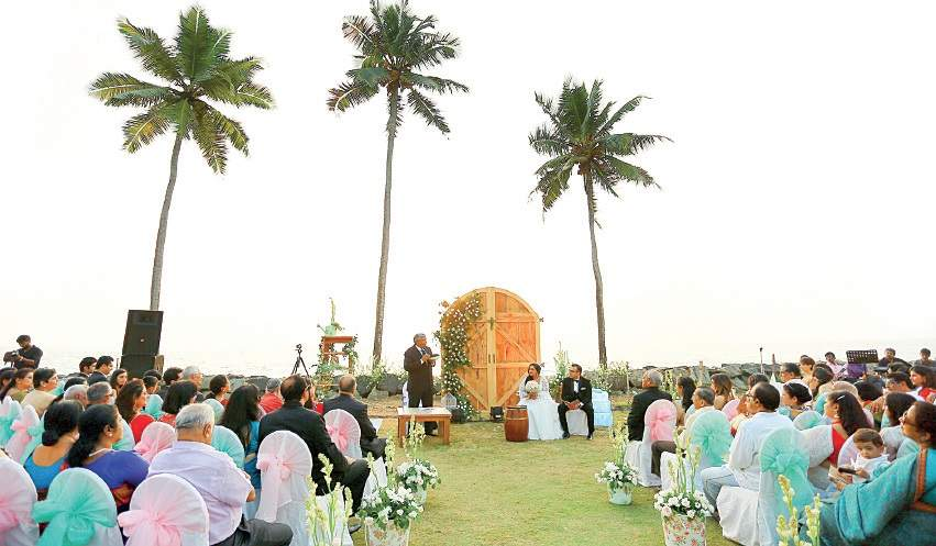 Kollam beach turned into dream wedding destination