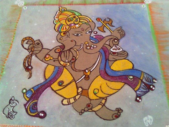Ganesh rangoli photo