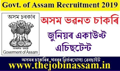 Assam Bhawan, Govt of Assam Recruitment 2019: Junior Account Assistant