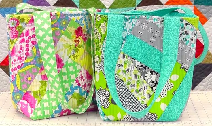 Novice Beginnings: QUILT-AS-YOU-GO TOTE BAG - Video Tutorials : quilt as you go tote - Adamdwight.com