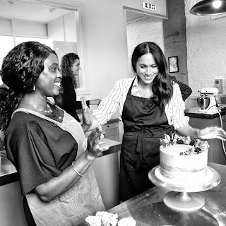 Meghan attends launch of second Luminary Bakery cafe in Camden London with Telegraph reporter