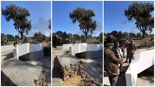 (بالفيديو و الصور) الجيش الوطني التونسي ينتهي من تشييد جسر #مدرسة الشهيدة مها #القضقاضي بفرنانة