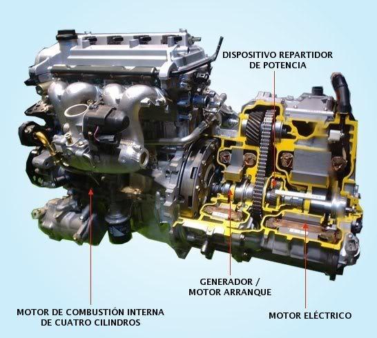 Motor del Prius abierto