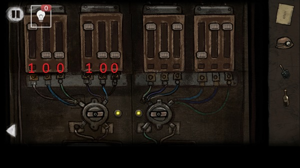 ползунки выставляем по числам на ящике в игре выход из заброшенной шахты