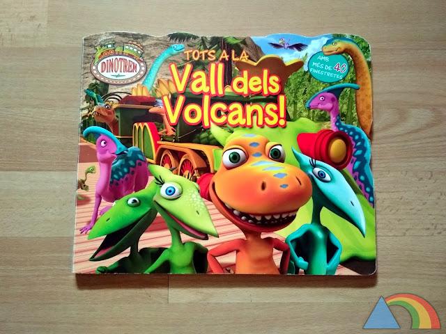 Portada del libro Dinotren ¡Todos al valle de los volcanes!