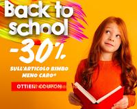 """Pittarello """"Back to School"""" sconto 30% sull'articolo bimbo meno caro"""