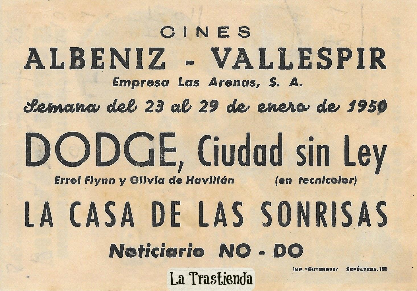 Programa de Cine - Dodge Ciudad Sin Ley - Errol Flynn - Olivia de Havilland - Ann Sheridan