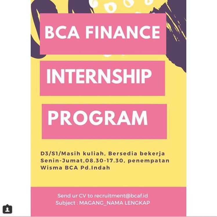 Cara Magang Kerja Di BCA Finance Internship Program
