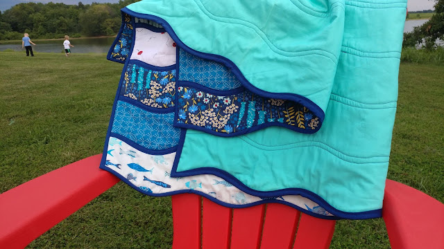 High Tide quilt - a bias tape applique quilt for advanced beginners
