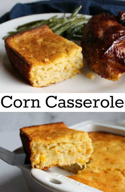 Soft and delicious corn casserole, also known as corn pudding, is a family friendly and filling side dish.