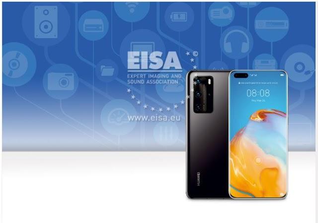 """Huawei ชนะสองรางวัลใหญ่จากเวที EISA จาก 2 ผลิตภัณฑ์  HUAWEI P40 Pro กับรางวัล """"กล้องสมาร์ทโฟนที่ดีที่สุด""""  และ HUAWEI Watch GT 2 กับรางวัล """"สมาร์ทวอทช์ที่ดีที่สุด"""""""