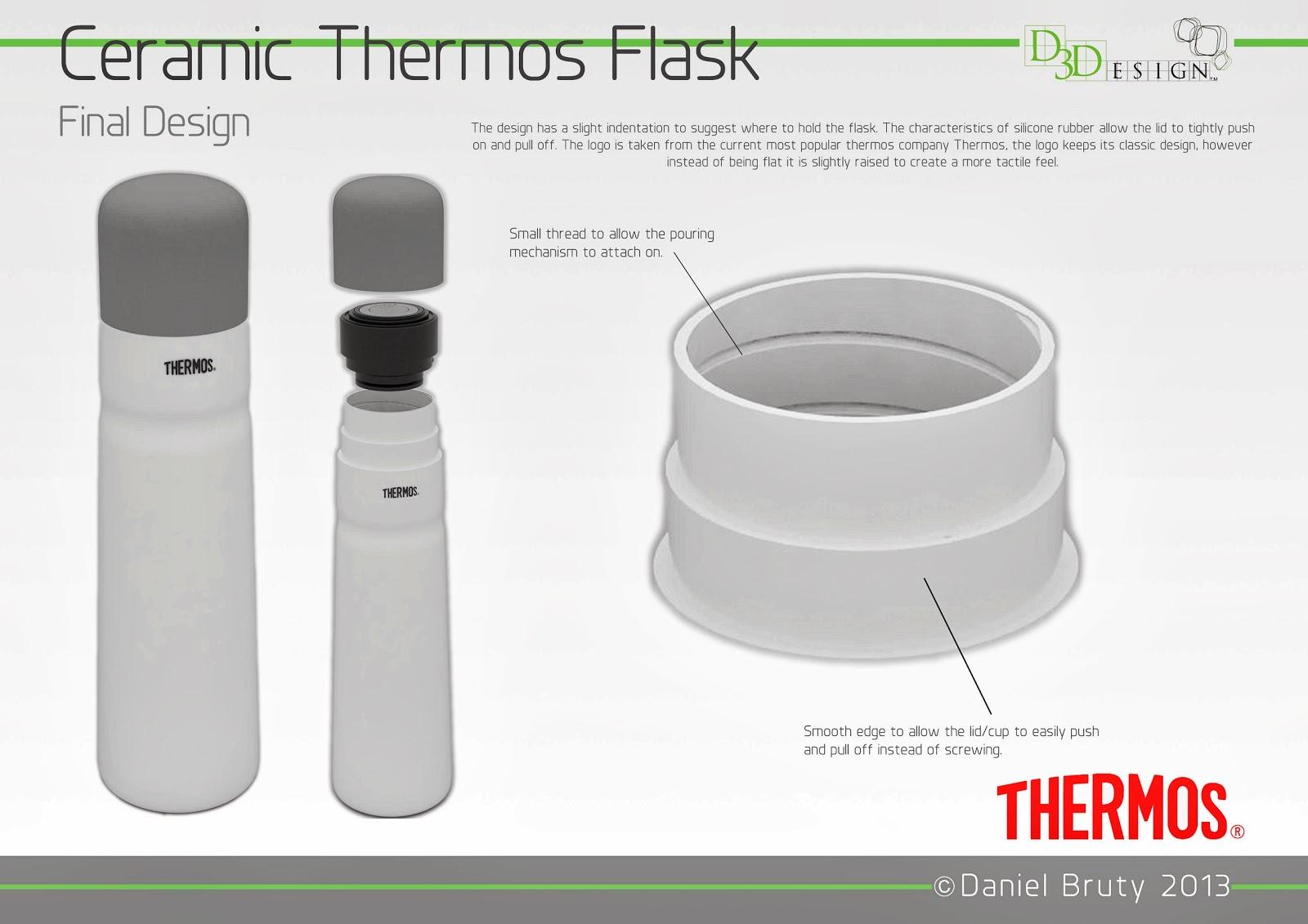 Daniel Bruty Product Designer Ceramic Thermos Flask