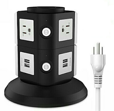FlePow USB Power Hub Charging Station - Multifunctional Power Strip Outlet