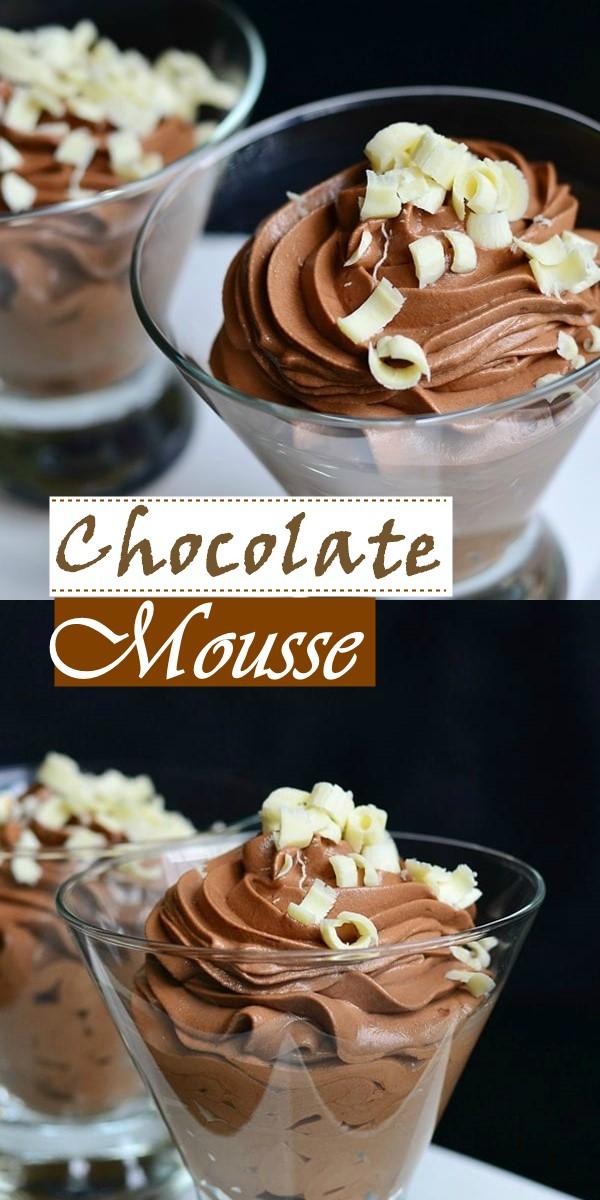 Chocolate Mousse #Dessertrecipes