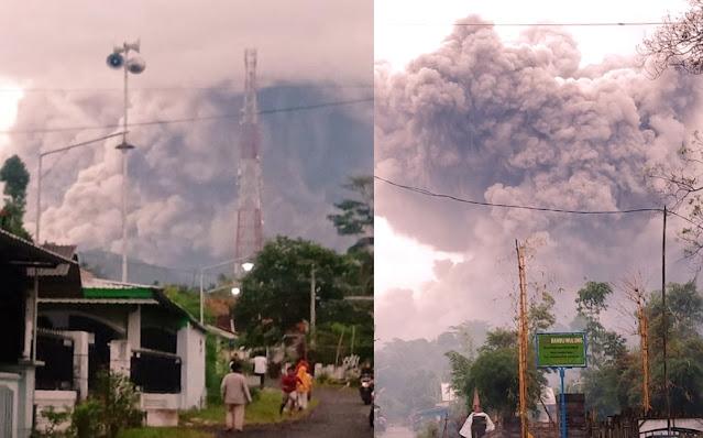 Allahu Akbar, Gunung Semeru Meletus, Lontaran Awan Panas Mencekam