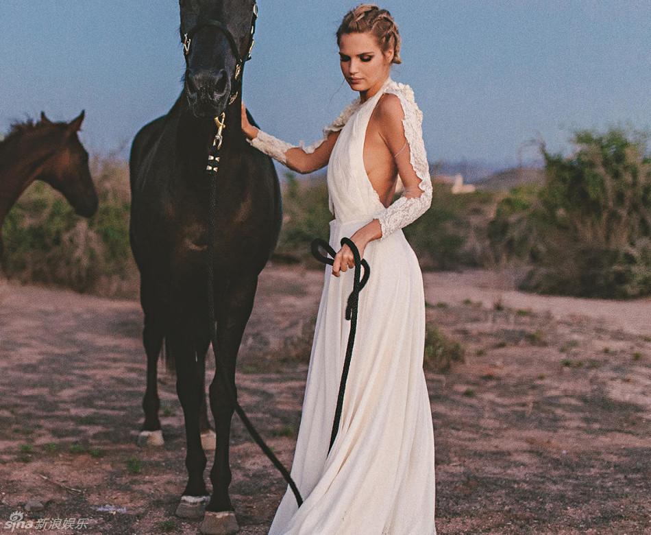 Supermodel Vacuum Into Battle On Horseback Shelter