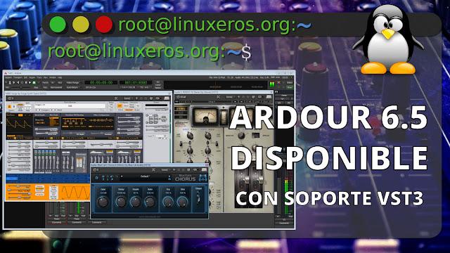 Ardour 6.5, con soporte para complementos VST3