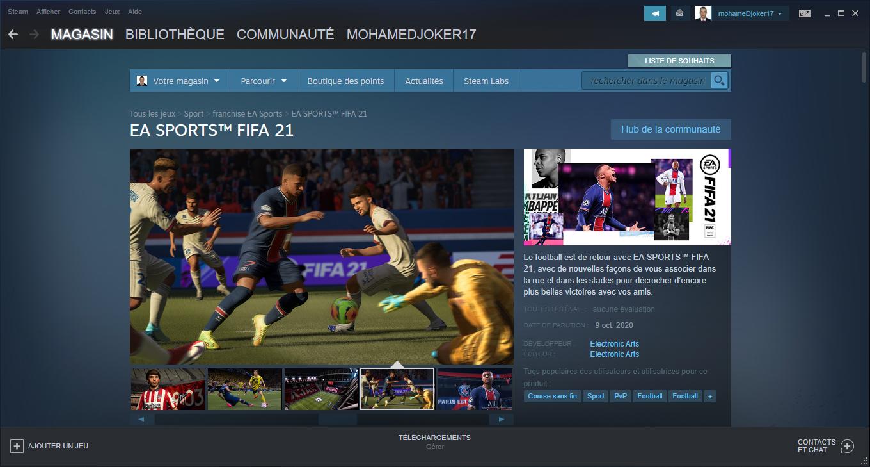 FIFA 21 العب اللعبة العالمية التي تضم أكثر من 17000 لاعب لأول مرة على Steam