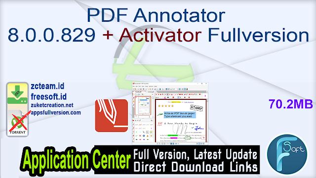 PDF Annotator 8.0.0.829 + Activator Fullversion