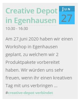 Save the Date - Creative-Depot in Egenhausen