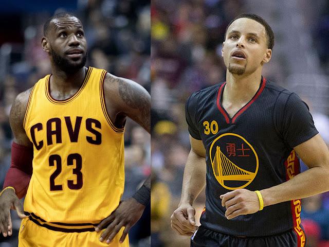 Lebron james jugador de los Angeles Lakers en este momento y Stephen Curry jugador de golden State Warriors