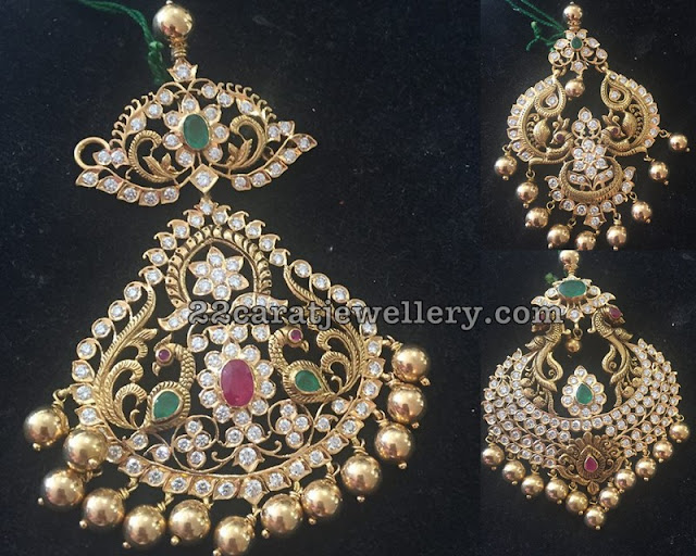 Large Size Peacock Pendants with Diamonds