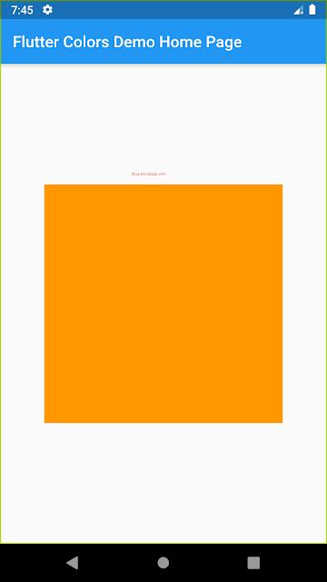 Orange Container Widget UI