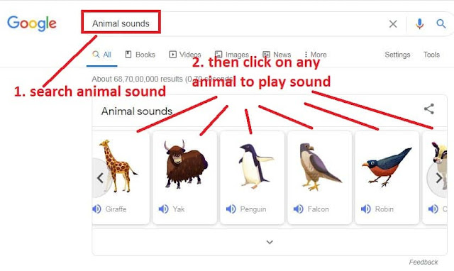 google-search-result-to-animals-sounds