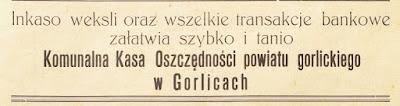 Gorlice weksle 1938