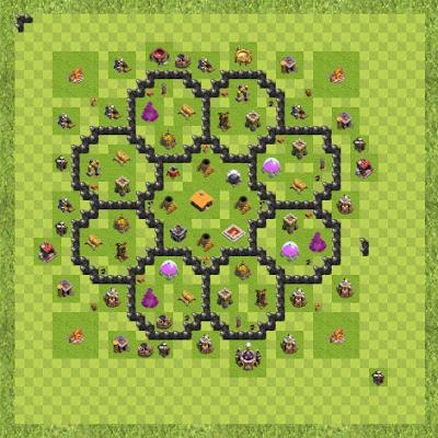 War Base Town Hall Level 8 By Brando Dagondon (rotsen TH 8 Layout)
