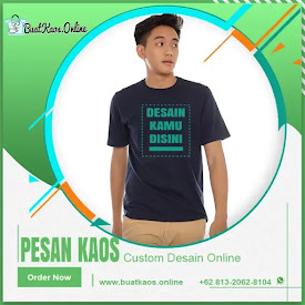 Pesan Kaos Online? Custom Sablon Proses Cepat Disini.! <price>Rp55.000</price> <code>#Kaoscustom</code>