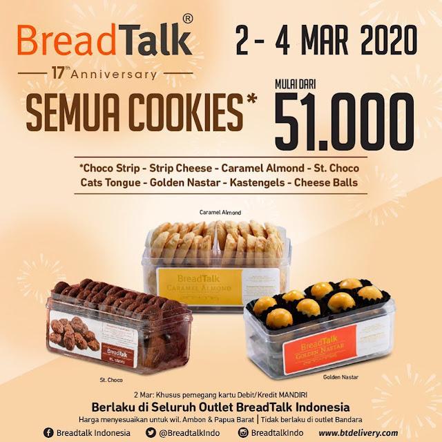 #BreadTalk - #Promo Ulang Tahun ke 17 Promo Cookies Cake & Paket 10 (s.d 04 Mar 2020)