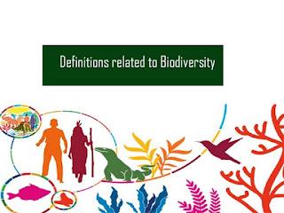 जैव विविधता से संबंधी परिभाषाएं