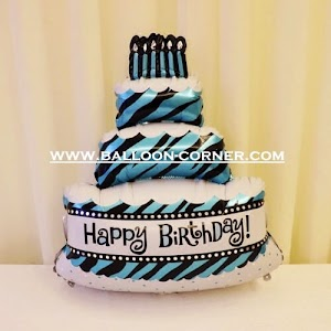 Balon Foil Happy Birthday Cake Jumbo (NEW COLOUR)