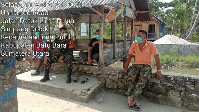 Personel Jajaran Kodim 0208/Asahan Laksanakan Komsos Dengan Masyarakat Himbau Untuk Jaga Kebersihan Lingkungan