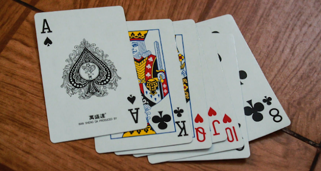 Playing cards on a table