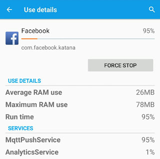 Facebook RAM usage report