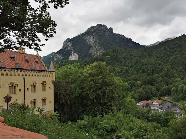 Neuschwanstein castle as seen from the Hohenschwangau castle