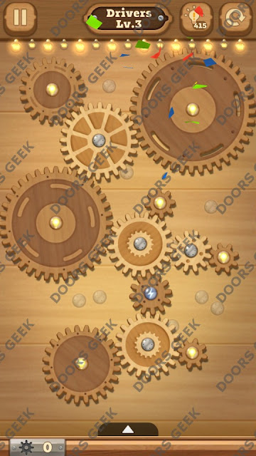 Fix it: Gear Puzzle [Drivers] Level 3 Solution, Cheats, Walkthrough for Android, iPhone, iPad and iPod