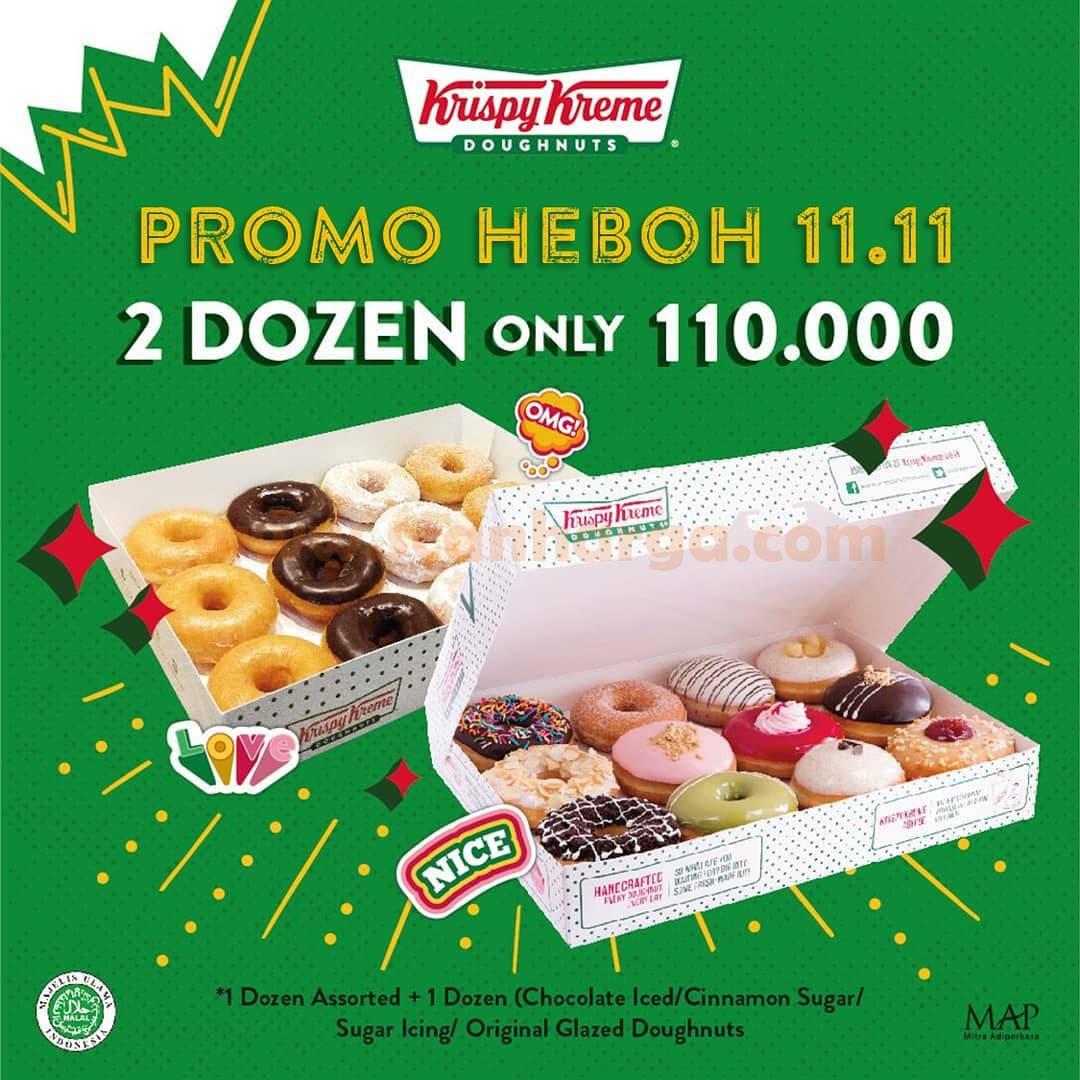 Krispy Kreme Promo Heboh 11.11 - 2 Dozen hanya Rp 110.000,-