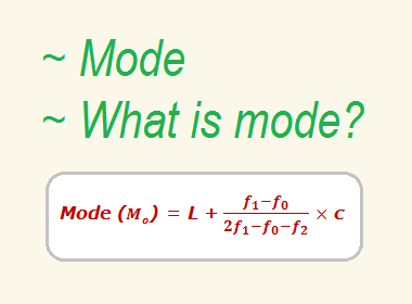Mode | What is mode?